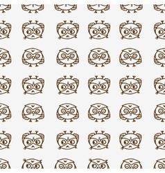 owls seamless pattern 1 vector image