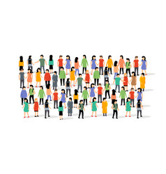 People group crowd social team large person vector