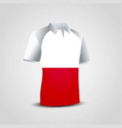 Poland flag on t-shirt vector