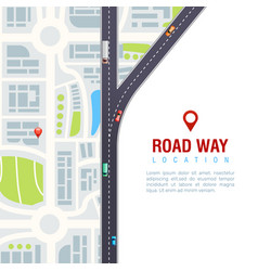 Road navigation poster vector
