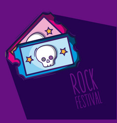 Rock festival cartoon vector