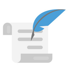 Scroll and feather vector