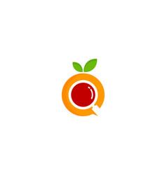 Search fruit logo icon design vector