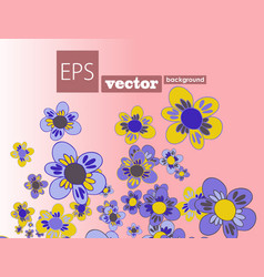 Set flowers and floral elements isolated vector