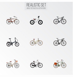 set of realistic symbols with balance roa vector image