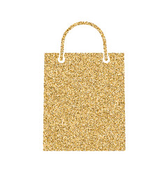 shopping bag icon with glitter effect isolated on vector image
