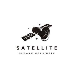 Space satellite logo icon vector