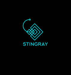 stingray lines logo vector image