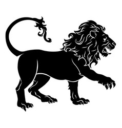 stylised lion vector image