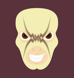 Super hero in mask icon in flat style vector