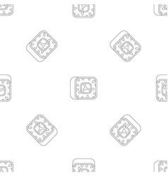 Sushi pattern seamless vector