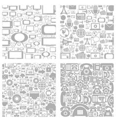 Technics a background vector image
