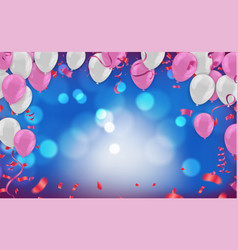 Template for happy birthday card luxury party vector