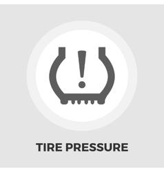 Tire Pressure icon flat vector image