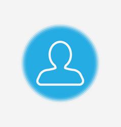 user icon sign symbol vector image