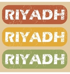 Vintage Riyadh stamp set vector