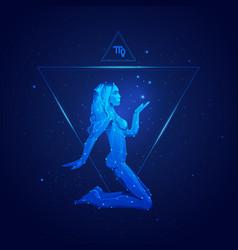 virgo horoscope sign in twelve zodiac with galaxy vector image