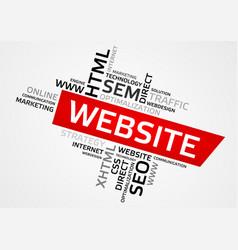 Website word cloud tag cloud graphics vector
