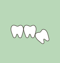 Wisdom tooth - angular or mesial impaction vector