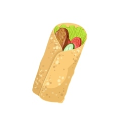 Wrap street food menu item realistic detailed vector
