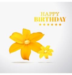 Yellow flower petals vector image