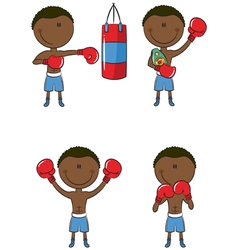 Boxers vector image vector image