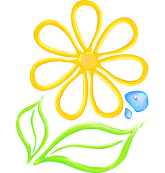 Gel flower icon vector image vector image