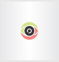 human eye logo sign icon element vector image
