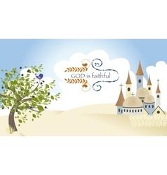 Israel God Triad Worship Jerusalem Castle vector image vector image