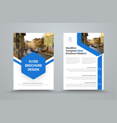 template of the standard size of a flyer with a vector image