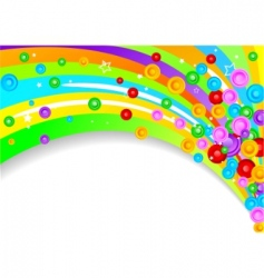 vector colorful background with circles vector image