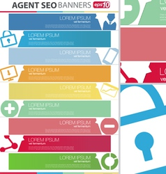 Agent SEO banners set vector image vector image