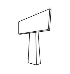 empty signpost isolated vector image vector image