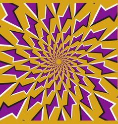 optical background purple lightnings revolves vector image vector image