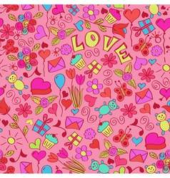 st valentines seamless pattern vector image vector image