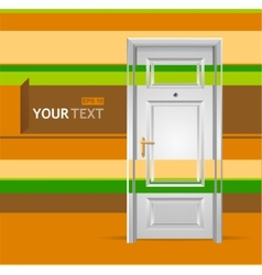 white door in the wall for text vector image vector image