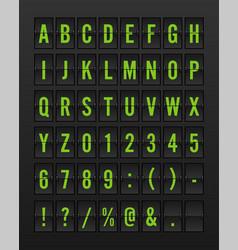 airport mechanical flip board panel font vector image