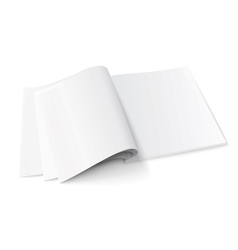 Blank magazine template with soft shadows vector image vector image