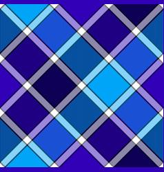 blue winter color diagonal check plaid seamless vector image