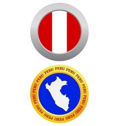 button as a symbol PERU vector image vector image