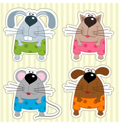 icon funny animals vector image