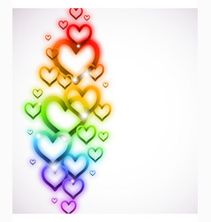 Rainbow Heart with Sparkles on white vector image vector image