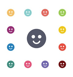 smile flat icons set vector image vector image