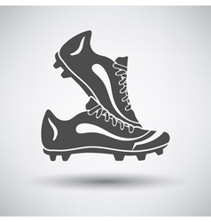 Soccer pair of boots vector image