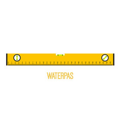 waterpas instrument measuring equipment vector image