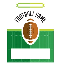 American Football Game Flyer vector image vector image
