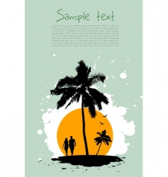 beach card vector image vector image