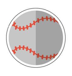 Cartoon baseball ball sport game vector