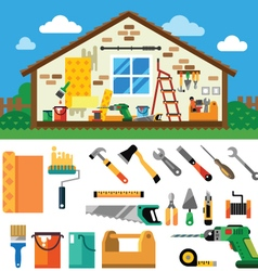 Home repair landscape vector image vector image