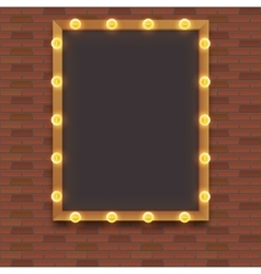 Light bulb frame with space vector image
